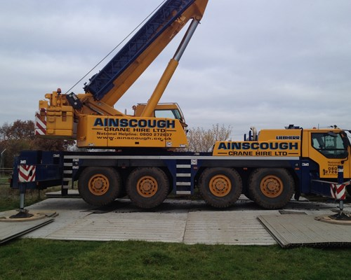 Trackway for crane hire