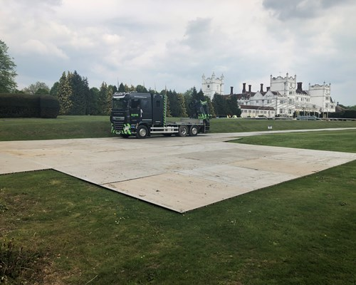 Trackhire supply ground protection for private party
